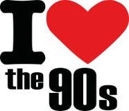 Αγαπώ τη δεκαετία του '90 απεικόνιση αποθεμάτων