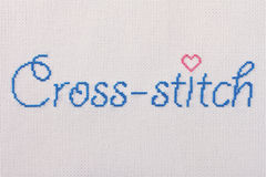 Αγαπώ τη διαγώνια βελονιά Στοκ φωτογραφία με δικαίωμα ελεύθερης χρήσης