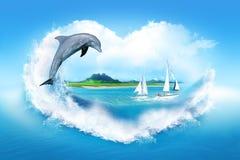 αγαπώ τη θάλασσα Στοκ Εικόνα