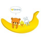 Αγαπώ τις μπανάνες Στοκ Φωτογραφίες