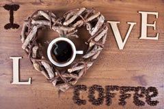 Αγαπώ τον καφέ Στοκ Εικόνα