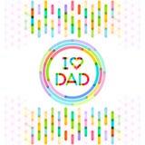 Αγαπώ τον μπαμπά ζωηρόχρωμο υπόβαθρο ημέρας πατέρων Στοκ εικόνες με δικαίωμα ελεύθερης χρήσης