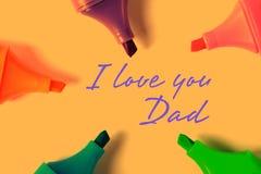 Αγαπώ τον μπαμπά Στοκ φωτογραφία με δικαίωμα ελεύθερης χρήσης