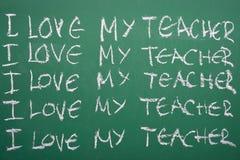 Αγαπώ το δάσκαλό μου Στοκ Φωτογραφία