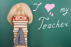 Αγαπώ το δάσκαλό μου Στοκ Εικόνα