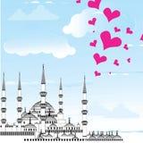 Αγαπώ το διάνυσμα σχεδίου της Ιστανμπούλ Στοκ φωτογραφία με δικαίωμα ελεύθερης χρήσης