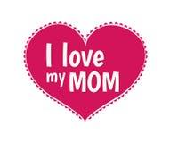 Αγαπώ το διάνυσμα mom μου Στοκ Φωτογραφία