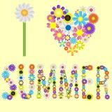 αγαπώ το καλοκαίρι Διανυσματική απεικόνιση