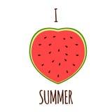 Αγαπώ το καλοκαίρι Στοκ Εικόνα