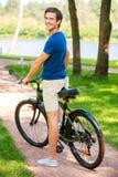 Αγαπώ το νέο ποδήλατό μου! Στοκ Εικόνες