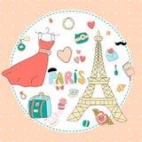 Αγαπώ το Παρίσι μου Στοκ Εικόνες