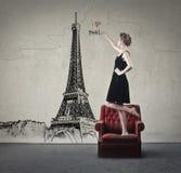 αγαπώ το Παρίσι Στοκ Φωτογραφίες