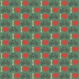 Αγαπώ το ποδήλατό μου. Άνευ ραφής υπόβαθρο. Στοκ Φωτογραφία
