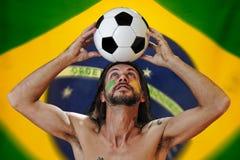 Αγαπώ το ποδόσφαιρο Στοκ Εικόνα