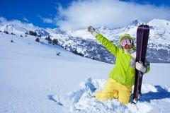 Αγαπώ το σκι Στοκ εικόνα με δικαίωμα ελεύθερης χρήσης