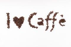Αγαπώ caffe Στοκ φωτογραφία με δικαίωμα ελεύθερης χρήσης