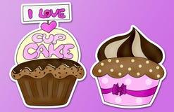 Αγαπώ cupcake Στοκ Εικόνες