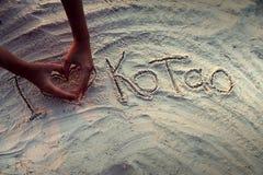 Αγαπώ Ko Tao Στοκ φωτογραφίες με δικαίωμα ελεύθερης χρήσης