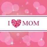 Αγαπώ mom την κάρτα Στοκ Εικόνες