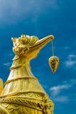 Αγαλματώδης χρυσός brid Στοκ Εικόνες