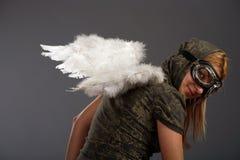 αγγελικά φτερά κοριτσιών Στοκ Εικόνες