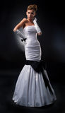αγγελικό ξανθό νυφικό φόρε στοκ φωτογραφίες