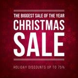 Αγγελία πώλησης Χριστουγέννων που σχεδιάζεται σε ένα σύγχρονο επίπεδο ύφος Στοκ Φωτογραφία