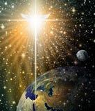 Αγγελικό αστέρι πέρα από τη Βηθλεέμ Στοκ φωτογραφία με δικαίωμα ελεύθερης χρήσης