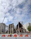 αγγλικανικές καταστροφές σεισμού καθεδρικών ναών christchurch Στοκ Φωτογραφίες