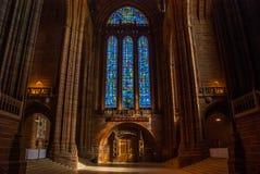 Αγγλικανική εκκλησία καθεδρικών ναών Χριστού στο Λίβερπουλ στοκ εικόνες