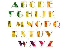 Αγγλικό αλφάβητο σε ένα υπόβαθρο των φύλλων φθινοπώρου! στοκ εικόνες με δικαίωμα ελεύθερης χρήσης
