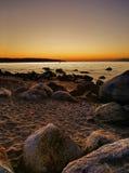Αγγλικό ηλιοβασίλεμα κόλπων Στοκ φωτογραφίες με δικαίωμα ελεύθερης χρήσης