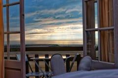 Αγγλικό κανάλι σε Trouville στα Καλβάδος Νορμανδία Γαλλία στο ηλιοβασίλεμα Στοκ Εικόνα