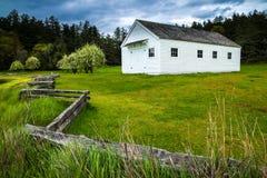 Αγγλικό στρατόπεδο, κόλπος φρουρών, νησί εθνικό ιστορικό PA του San Juan Στοκ φωτογραφίες με δικαίωμα ελεύθερης χρήσης