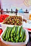 αγγούρια για την πώληση σε μια κινεζική αγορά Στοκ εικόνες με δικαίωμα ελεύθερης χρήσης