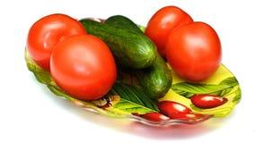 Αγγούρια και ντομάτες Στοκ φωτογραφία με δικαίωμα ελεύθερης χρήσης