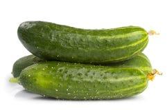 αγγούρια πράσινα τρία Στοκ φωτογραφία με δικαίωμα ελεύθερης χρήσης