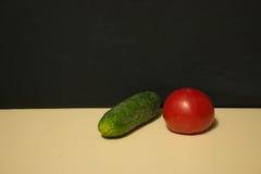 Αγγούρι και ντομάτα Στοκ φωτογραφίες με δικαίωμα ελεύθερης χρήσης