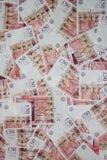 Αγγλία τραπεζογραμμάτιο πενήντα λιβρών Στοκ Εικόνα