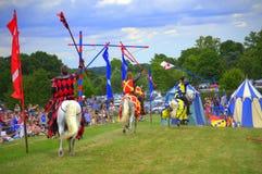 Αγγλικά πρωταθλήματα Hever Castle Jousting ιπποτών Στοκ φωτογραφία με δικαίωμα ελεύθερης χρήσης