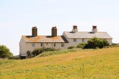 Αγγλικά σπίτια καναλιών στοκ εικόνες