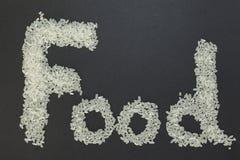 Τρόφιμα λέξης Στοκ Εικόνες