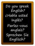 Αγγλική γλώσσα Στοκ εικόνα με δικαίωμα ελεύθερης χρήσης