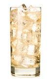 Αγγλική μπύρα πιπεροριζών χυμού της Apple στο λευκό Στοκ Φωτογραφία