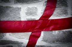 Αγγλική σημαία σημαιών του ST George Στοκ φωτογραφία με δικαίωμα ελεύθερης χρήσης