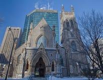 Αγγλικανική Εκκλησία του ST George, στο κέντρο της πόλης Μόντρεαλ, Καναδάς Στοκ φωτογραφίες με δικαίωμα ελεύθερης χρήσης