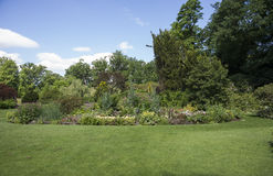 Αγγλικός κήπος συνόρων Στοκ εικόνα με δικαίωμα ελεύθερης χρήσης