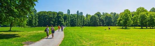 Αγγλικός κήπος του Μόναχου πανοραμικός Στοκ Εικόνα