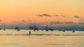 Αγγλικός κόλπος μετά από το ηλιοβασίλεμα στοκ φωτογραφία με δικαίωμα ελεύθερης χρήσης