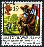 Αγγλικό βρετανικό γραμματόσημο εμφύλιου πολέμου Στοκ Εικόνες